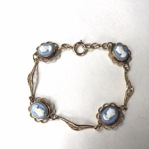 Cameo Bracelet Filagree Links delicate